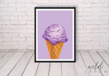 Load image into Gallery viewer, Hip Ice-Cream Prints Purple / A4 (21Cm X 29.7Cm) Kids & Nursery