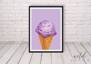 Hip Ice-Cream Prints Purple / A4 (21Cm X 29.7Cm) Kids & Nursery