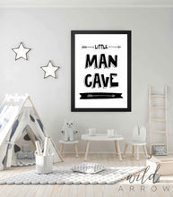 Load image into Gallery viewer, Little Man Cave Print Kids & Nursery