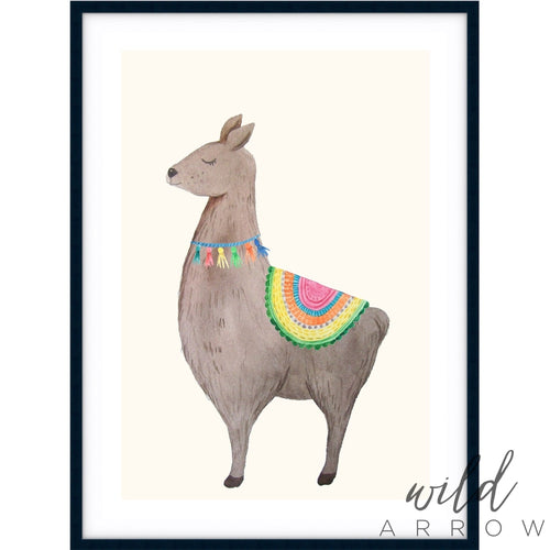 Llama Watercolour Kids & Nursery