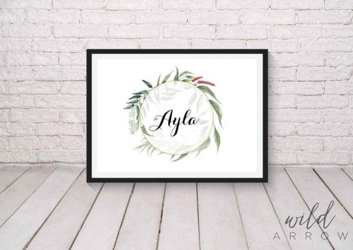 Native Beauty Name Print A0 (84.1Cm X 118.9Cm) Kids & Nursery