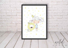 Load image into Gallery viewer, Princess Girl & Lion A0 (84.1Cm X 118.9Cm) Kids Nursery