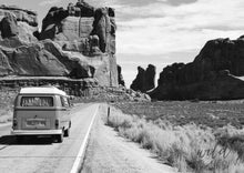Load image into Gallery viewer, Travelling Kombi A1 (59.4Cm X 84.1Cm) / Black & White Photographic