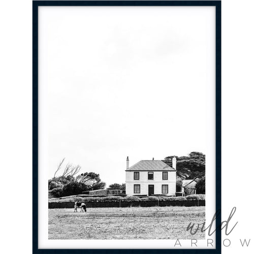 White Cottage - B&w Photographic