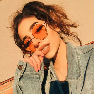 Vintage Metal Frame Sunglasses