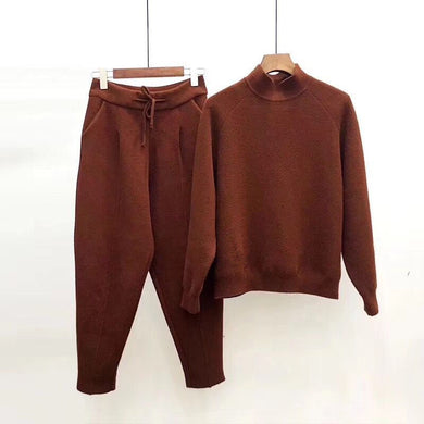 Turtleneck Ankle Length Trouser Set - coolstreetswear
