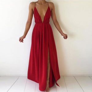 Spaghetti Strap Maxi Dress - coolstreetswear