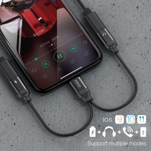 iPhone Dual Charger/Audio Cable Aux Splitter Connector