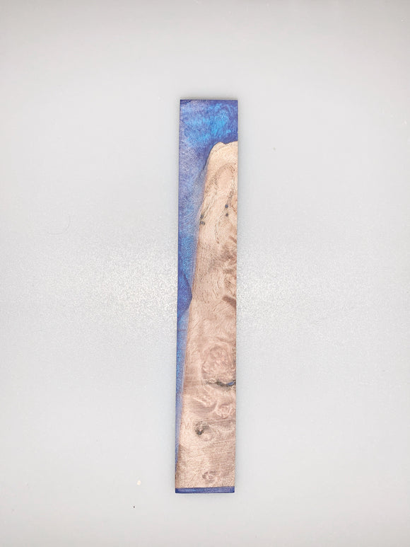 Stabilized Maple Burl in Blue