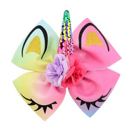 Unicorn Bow Hair Clip
