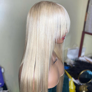 "30"" Glueless Custom Colored natural blonde Lace Closure Unit"