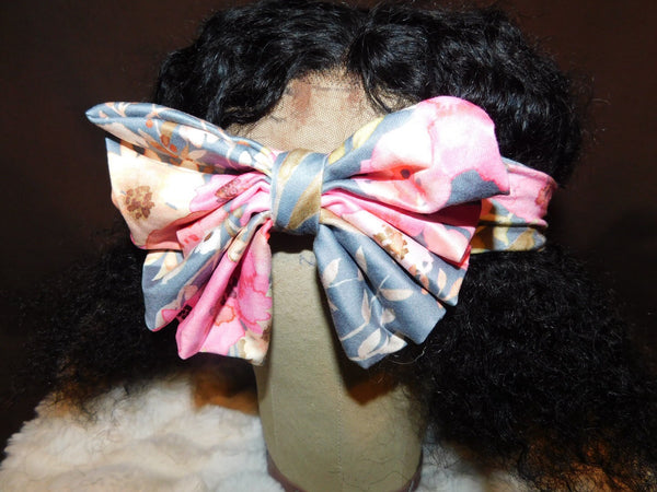 Pink & Orange Flowers Headband