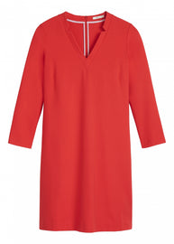 Knit shirt dress -Red