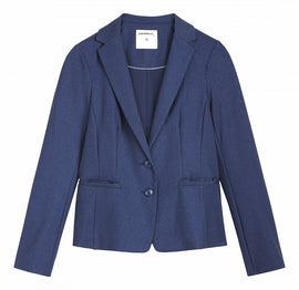 Denim look blazer -Blue Denim