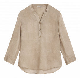 Blouse v-neck -Camel Beige