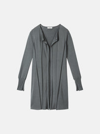 Open cardigan with rib feature - Deep Jade