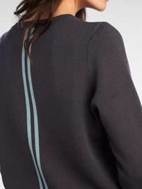 Sweater with contrasting stripes on back  -Anthra