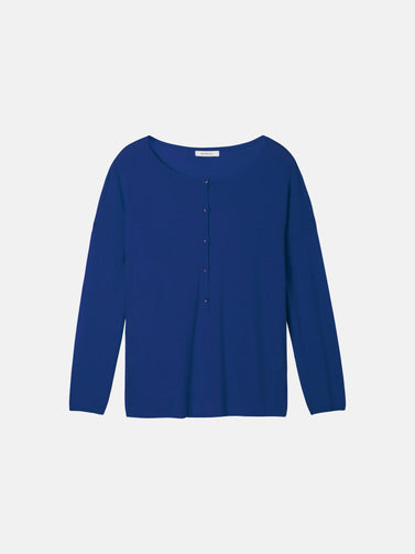 Pullover Long Sleeves  -Merlin Blue