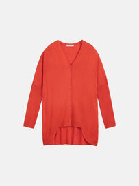 Cardigan with long back - Red Clay