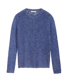 Mixed sweater -Signal Blue
