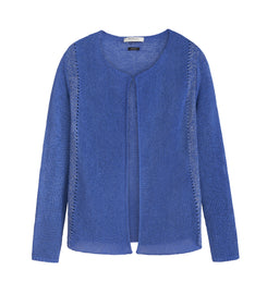 Cardigan with lurex - Signal Blue