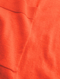 Fine-knit mid-length cardiganCoral