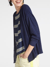 Open-knit cardigan -Navy