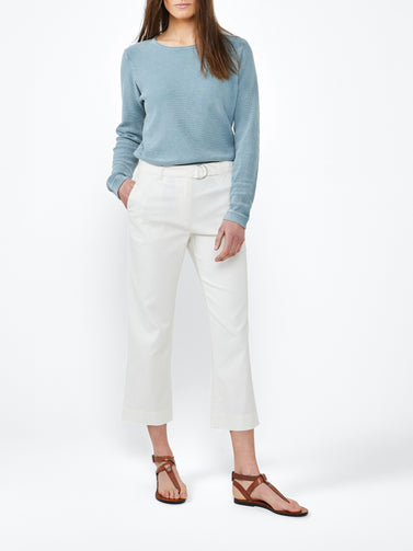 Casual sweater with fine texture -Blue Shadow