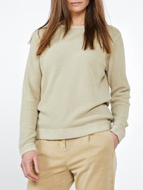 Casual sweater with fine texture -Warm Sand