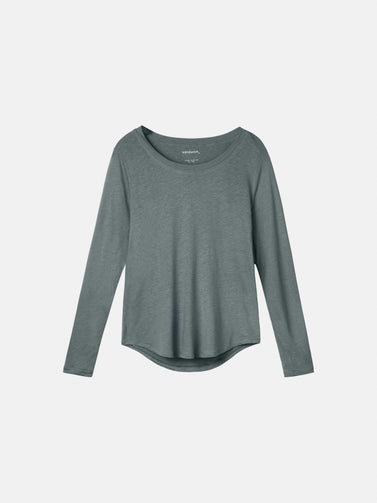 Essential long sleeve - Deep Jade