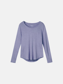 Long sleeve with rounded hem - Grey Lilac