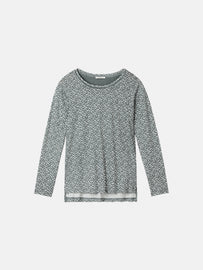 Essential long sleeve with all-over print - Deep Jade