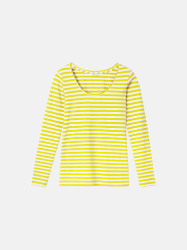 Essential long sleeve with stripes - Warm yellow