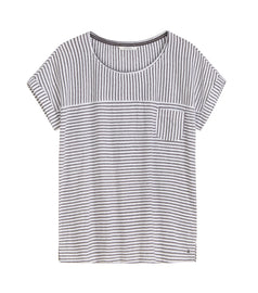 Striped T-shirt -Signal Blue