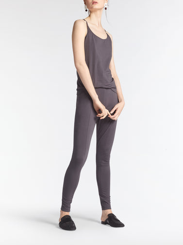 Tank top with thin straps -Anthra
