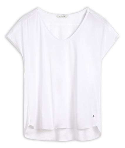 T-shirt with short sleeves -Pure White
