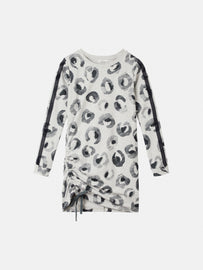 Tunic with leopard print - Fresh Grey HTR