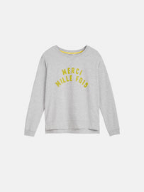 Sweater with star print - Pearl Grey HTR