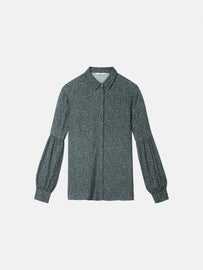 Blouse with puff sleeves - Deep Jade