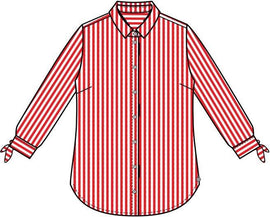 Striped blouse - Pop Red