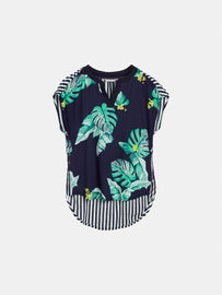 Top with different prints - Navy