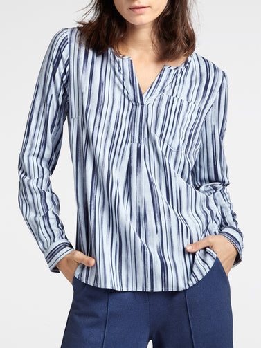 Striped blouse -Sky High