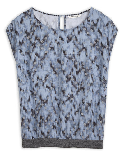 T-shirt with graphic dot print -Ashley Blue