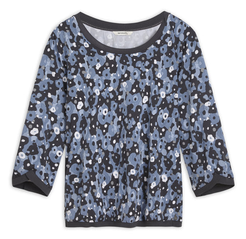 Top with watercolour floral print -Ashley Blue