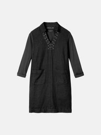 Dress with eyelets - Almost Black