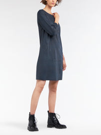 Suede look dress -Black