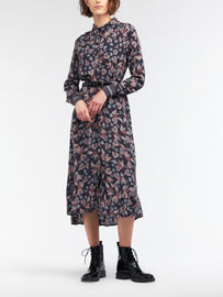 Dress with floral print -Magnet