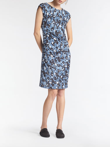 Dress with watercolour floral print -Ashley Blue