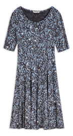 Dress with graphic print -Ashley Blue