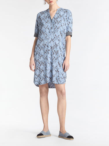 Dress with graphic dot print -Ashley Blue